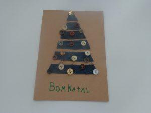 Postal com árvore de Natal