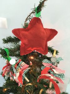Pormenor de árvore de Natal - estrela