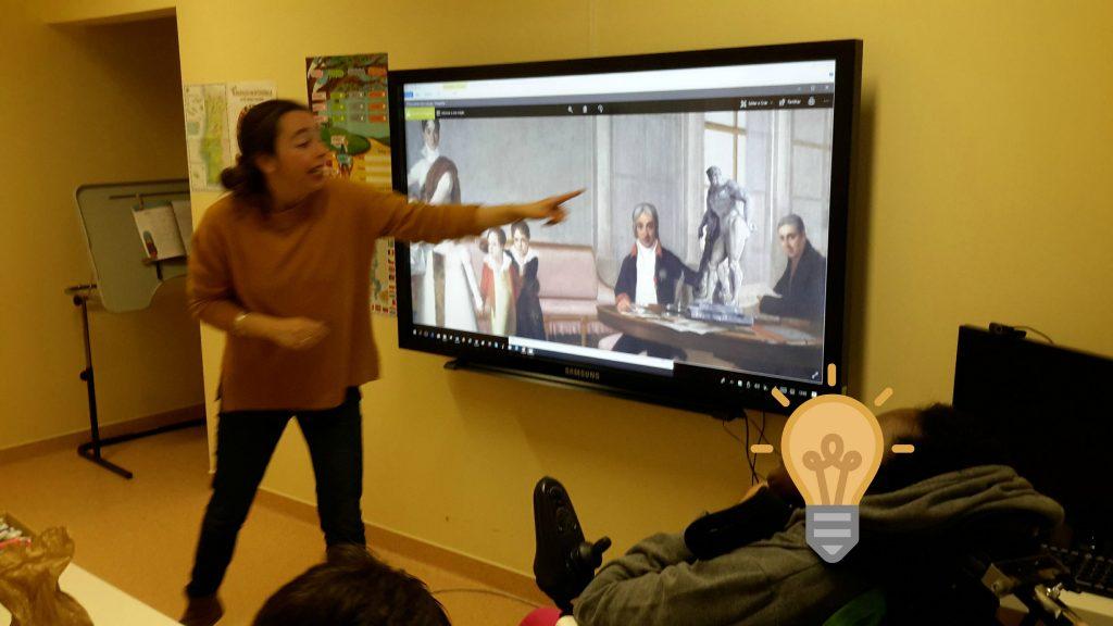 Marta apresenta o quadro de Domingos Sequeira