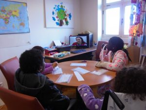 Videoconferência com a Sandra do Pavilhão do Conhecimento