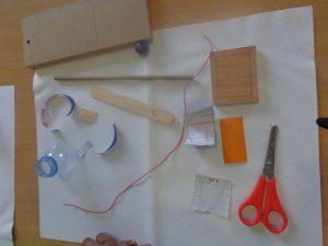 Materiais para construção de cesto de basquete