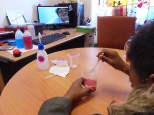 Alunos em videoconferência fazem experiências com água