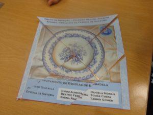 Tangram concluído com a imagem de um prato