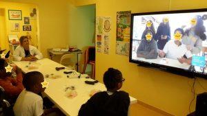 Alunos do HDE em TeleAula com alunos da Bobadela