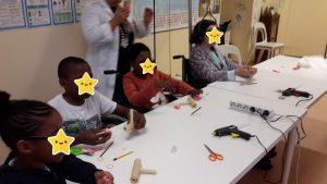 Construção de instrumentos musicais pelos alunos do HDE