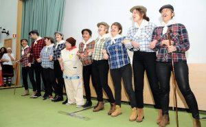 O grupo a interpretar o cante alentejano