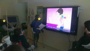 Líderes Digitais e alunos a assistir