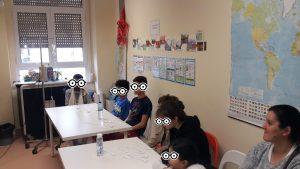 Animadora do MNAA e alunos