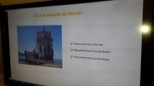 Slide com perguntas