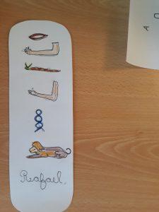 Um dos marcadores feito por um aluno chamado Rafael.