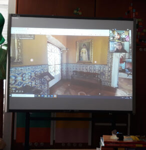 A visita virtual pelo interior do museu.