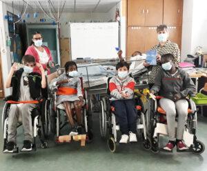 O grupo que participou na atividade.