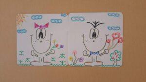 Desenhos dos alunos