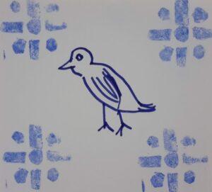 Azulejo desenhado por aluno